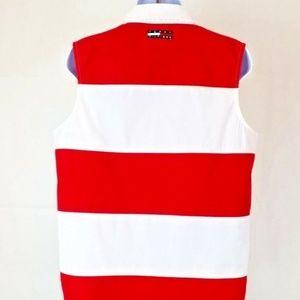 Tommy Hilfiger Vintage Red White Blue Shirt Sz 14